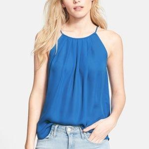 Joie 'Amarey' Silk Halter Top size L Blue